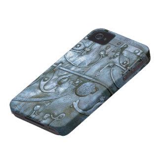 Vintage Metal Armor Print Blackberry Bold iPhone 4 Case