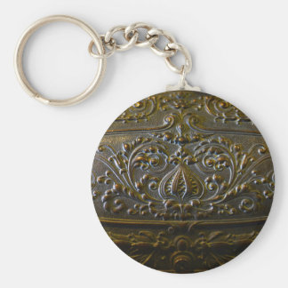vintage metal decoration elegant floral old sculpt keychain