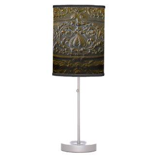 vintage metal decoration elegant floral old sculpt table lamp