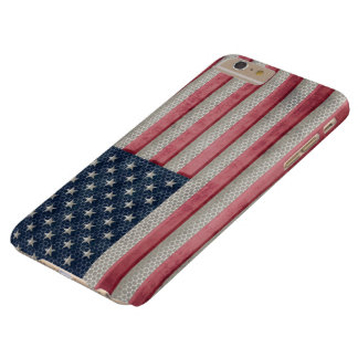 Vintage Metal Flag of United States of America Barely There iPhone 6 Plus Case