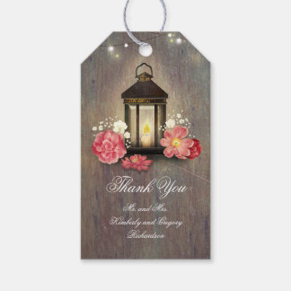 Vintage Metal Lantern Rustic Wood Barn Wedding Gift Tags