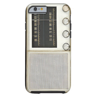 Vintage Metal Radio Tough iPhone 6 Case