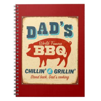 Vintage metal sign - Dad's BBQ Notebooks