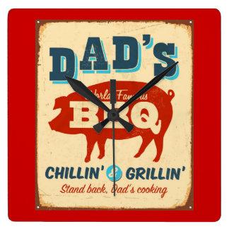 Vintage metal sign - Dad's BBQ Wall Clocks