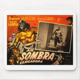 Vintage Mexican Masked Hero Lobby Card Mouse Pad