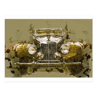 Vintage MG Sports Car Postcard