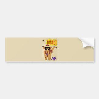 Vintage Miami Beach Bumper Sticker