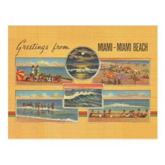 Vintage Miami Beach Florida Post Card
