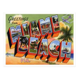 Vintage Miami Beach Postcard