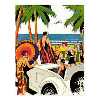 Vintage Miami, Florida, USA - Postcard