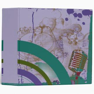 vintage mic turntable colors notebook vinyl binders