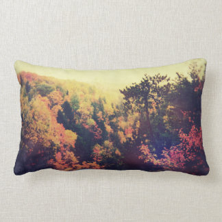 Vintage Michigan Autumn Trees Lumbar Pillow