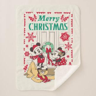 Vintage Mickey & Friends | Merry Christmas Sherpa Blanket