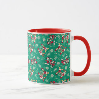 Vintage Mickey & Friends | Winter Fun Pattern Mug
