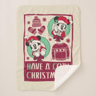 Vintage Mickey & Mickey | Have a Cozy Christmas Sherpa Blanket