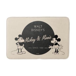 Vintage Mickey & Minnie Bath Mat