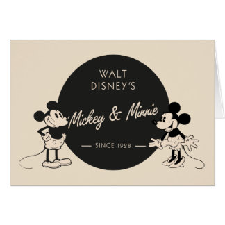 Vintage Mickey & Minnie Card
