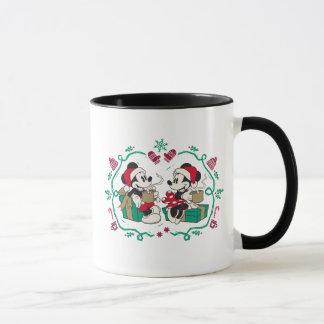 Vintage Mickey & Minnie   Cozy Christmas Mug