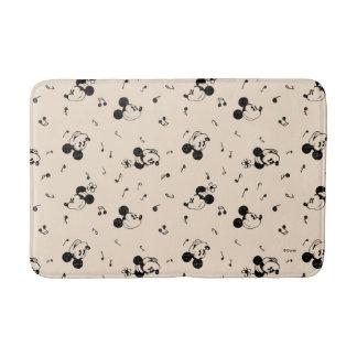 Vintage Mickey & Minnie Music Pattern Bath Mat