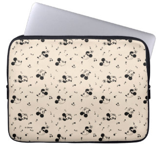 Vintage Mickey & Minnie Music Pattern Laptop Sleeve