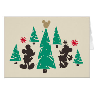 Vintage Mickey & Minnie | Season's Greetings Card