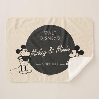 Vintage Mickey & Minnie Sherpa Blanket