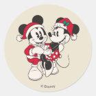 Vintage Mickey & Minnie | Warm & Cozy Classic Round Sticker