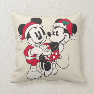 Vintage Mickey & Minnie | Warm & Cozy Throw Pillow
