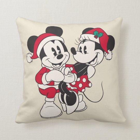 Vintage Mickey & Minnie   Warm & Cozy Throw Pillow