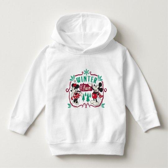 Vintage Mickey & Minnie | Winter Fun Hoodie