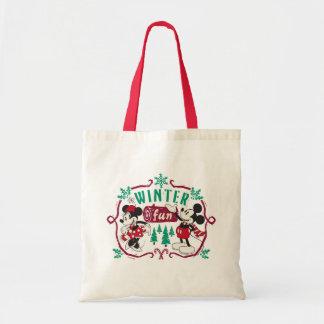 Vintage Mickey & Minnie | Winter Fun Tote Bag