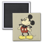 Vintage Mickey Mouse 2 Square Magnet