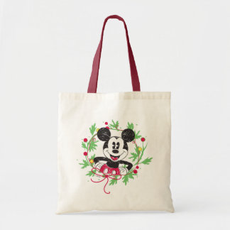 Vintage Mickey Mouse | Christmas Wreath Tote Bag