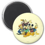 Vintage Mickey Mouse & Friends 2 Inch Round Magnet