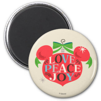 Vintage Mickey Mouse | Love, Peace & Joy Magnet