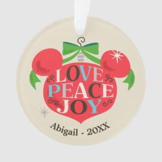 Vintage Mickey Mouse | Love, Peace & Joy Ornament