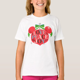Vintage Mickey Mouse | Love, Peace & Joy T-Shirt
