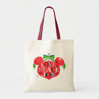 Vintage Mickey Mouse | Love, Peace & Joy Tote Bag