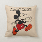 Vintage Mickey Mouse Throw Pillow