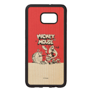 Vintage Mickey Silly Insturments Wood Samsung Galaxy S6 Edge Case