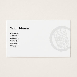 Vintage Microphone  Business Cards