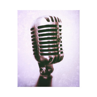 Vintage microphone Canvas