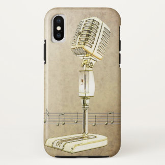 Vintage Microphone Design iPhone X Case