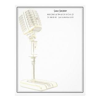 Vintage Microphone Design Letterhead