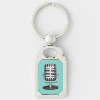 Vintage Microphone Keychain