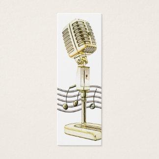 Vintage Microphone Mini Profile Card