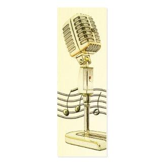 Vintage Microphone Mini Profile Card Business Cards