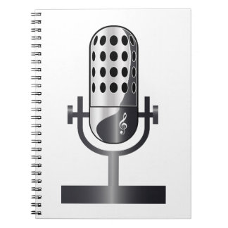 Vintage microphone notebook