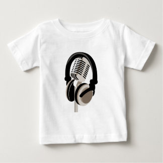 Vintage Microphone with Headphones Baby T-Shirt