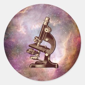 Vintage Microscope Classic Round Sticker